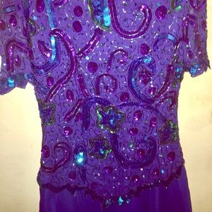 70s vintage Beaded formal dress